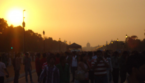 Delhi at dusk