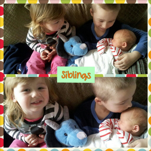 Enjoy the moments when all siblings are getting along!