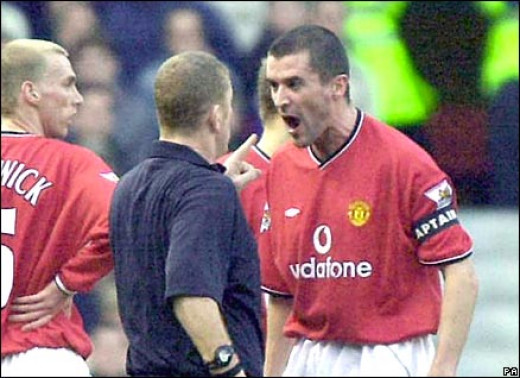 Keane furious with referee