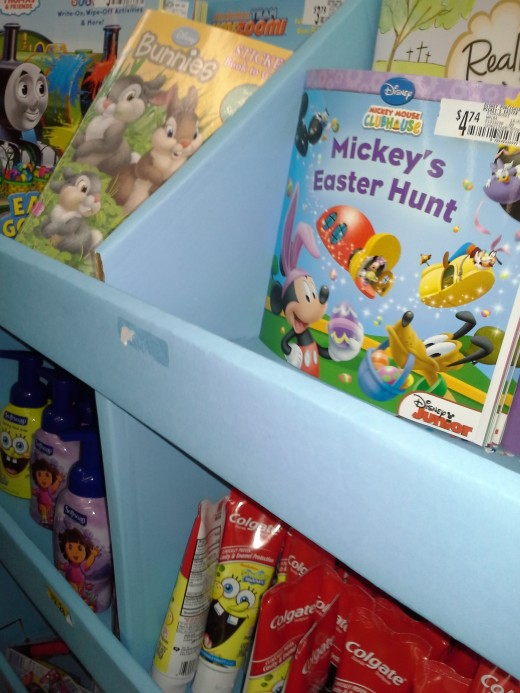 Children's books are a useful toy and very colorful to fill an Easter basket