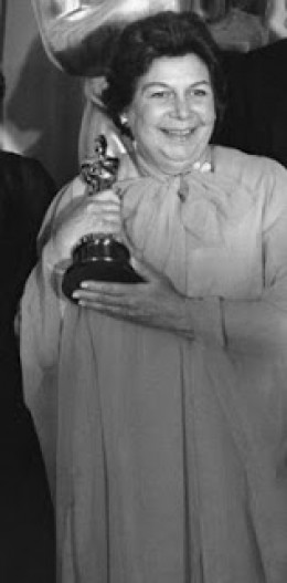 Verna Fields: 1976 Academy Awards.  Awarded for Best Editing for JAWS