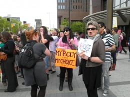 Pro-abortion demonstration in Canada