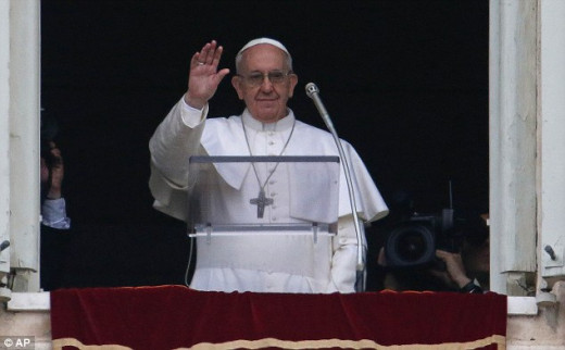 Newly elected Pope Francis.