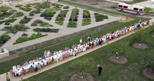 "Literally, from farm-to-table.  The first ""Under A Harvest Moon"" fundraising event in 2009 at Powell Gardens in Missouri."