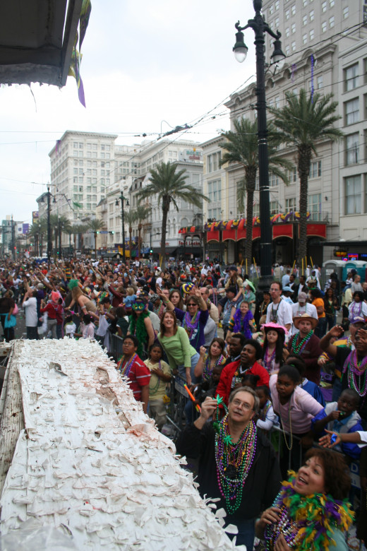 "There's hardly a more ""high emotional""  day than Mardi Gras!"