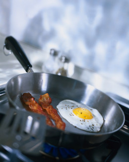 Making your own bacon and eggs can save you $10 or more over going to a restaurant, and home made tastes a lot better!