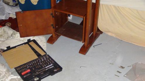 Assembling a Computer Desk