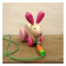 Hanna Hoppel Wooden Pull-along Bunny