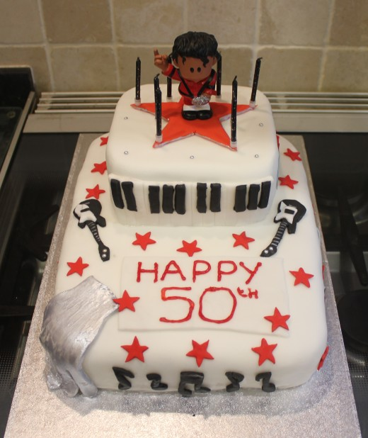 Michael Jackson cake design, made from scratch