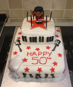 Cake Ideas - How to make a Michael Jackson themed cake.