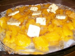 Sweet butternut Squash with brown sugar & butter