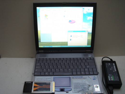 Sony laptop with a wireless G adapter