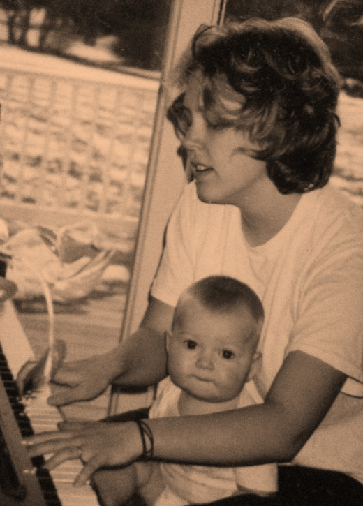 One of my many practice sessions with my son Evan.