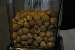My Vitamix with a couple of cups of Hazelnuts ready to be turned into a buttery mix.