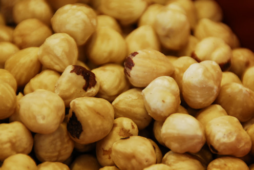 My bowl of Hazelnuts already had most of the skins removed.