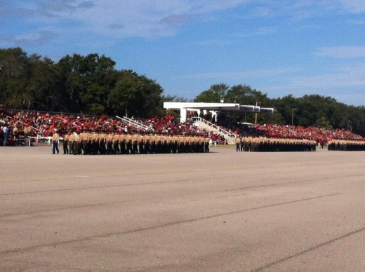 Peatross Parade Deck, New Marines Graduation