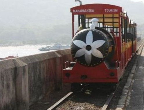 Elephanta Caves Toy Train run by Maharashtra Tourism Development Corporation