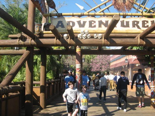 Adventureland in the Magic Kingdom