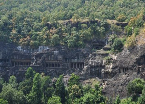 Ajanta Caves Outside view