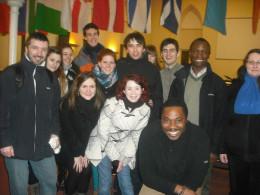 Our team enjoying fellowship with Aberdeen Elim Pentacostal Church after a prayer walk with them