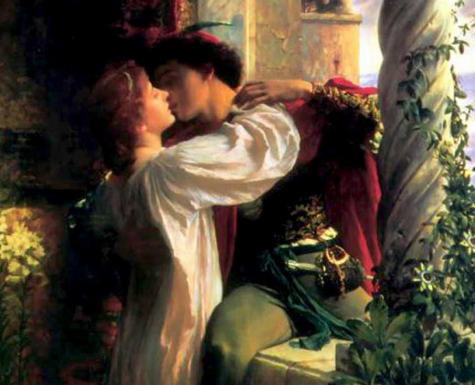 Detail of Romeo and Juliet by Frank Dicksee (1853-1928)