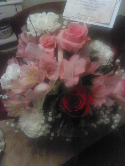 Beautiful flowers from Debbie.
