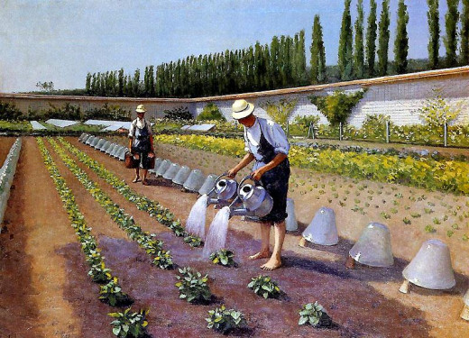 """Les jardiniers"" by Gustave Caillebotte, 1875"
