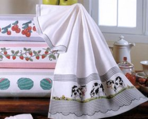 Free cross stitch towel border patterns hubpages for Bathroom cross stitch patterns free