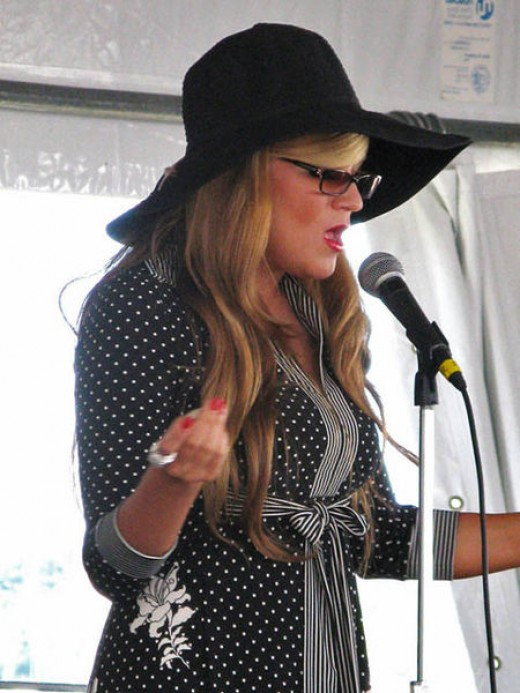 Singing at the Newport Jazz Festival in August 2008
