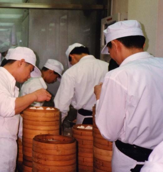 In a Busy Dumpling Restaurant Kitchen