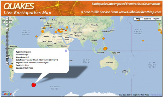 These large earthquakes show a pattern, yet are rarely reported in world wide news.