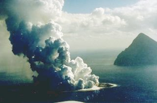 Erupting volcanoes on the ocean's floors are creating havoc world wide.