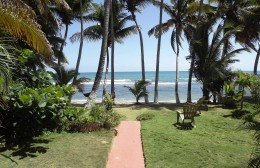 This was the view from our back porch at the cottage we rented in south Puerto Rico.