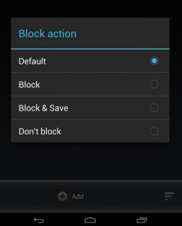 SMS blocking options