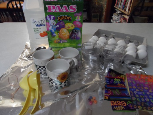 Dying Easter eggs with an egg coloring kit