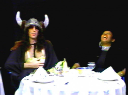 Howard Stern and Robin Quivers in a skit on their Channel 9 Show
