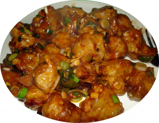 Gobi Manchurian: half-dry; half-gravy