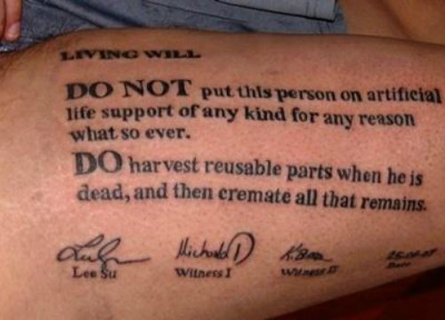 Tatoo your wishes on your body so that everyone can see it