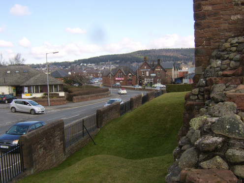 The Agricultural Hotel, Penrith, seen from Penrith Castle