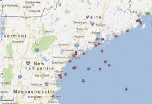 Southeast coast of Maine.