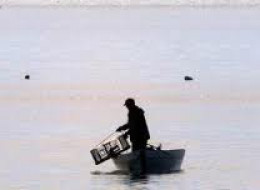 A  lone lobster fisherman.