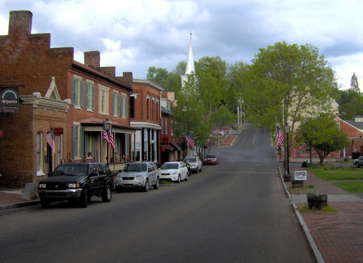 The old with the new.  Jonesborough can take you back in time.