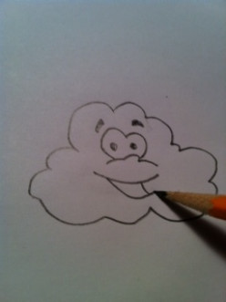 How to Draw an Anthropomorphic Blowing Cloud