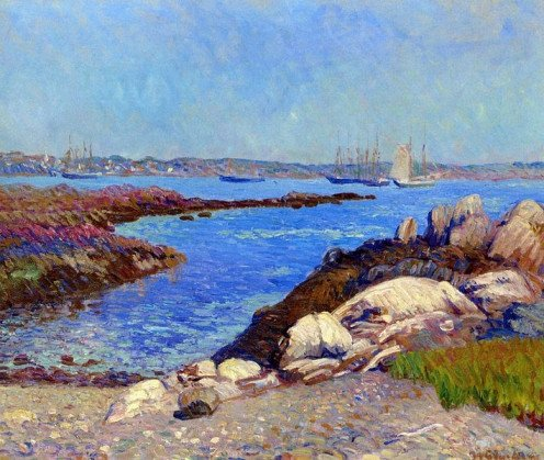 Portsmouth Harbor, New Hampshire by William James Glackens (1870 - 1938).