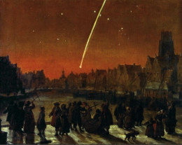 The Great Comet of 1680 over Rotterdam