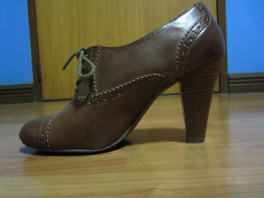 Chunky Heeled Oxfords from Payless