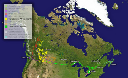 TransCanada Pipeline route to the USA.