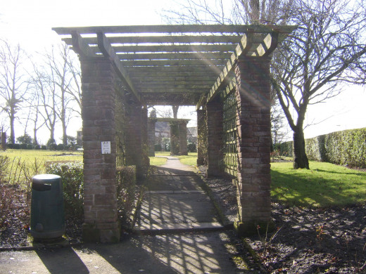 Walkway in Penrith Castle Park