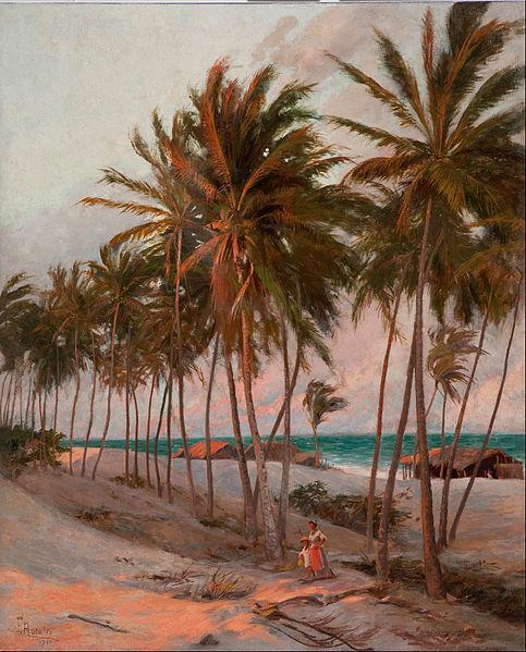 Beach in Fortaleza, by Aurélio Figueiredo (1854 - 1916) (Brazilian painter)