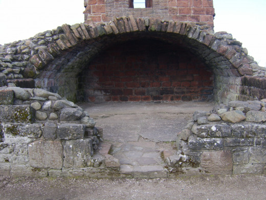 The base of the Red Tower at Penrith Castle largely remains in very good condition